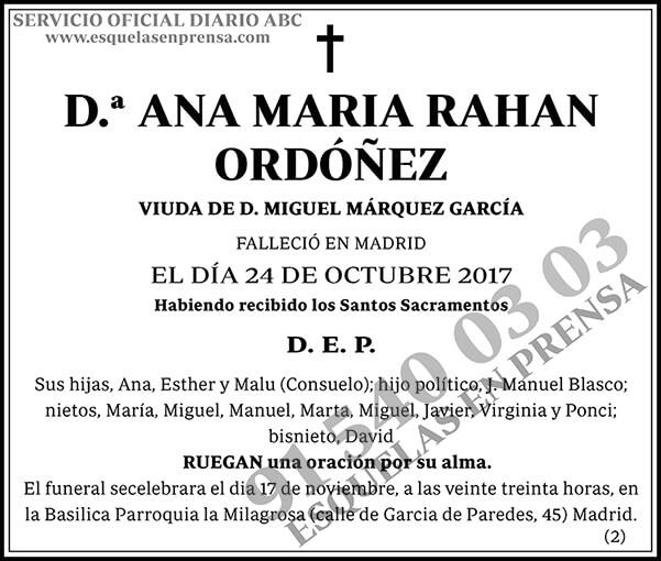 Ana María Rahan Ordóñez